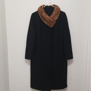 Jack Bloom California vintage wool/fur coat
